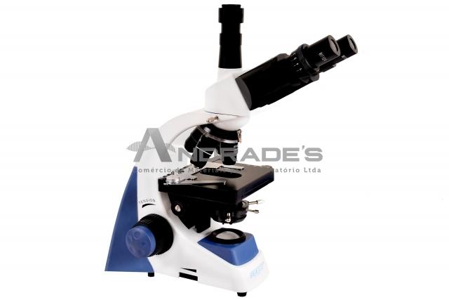 Microscópio Biológico Trinocular c/ Aumento de 40x a 1.600x LED 3W - SDMB-110