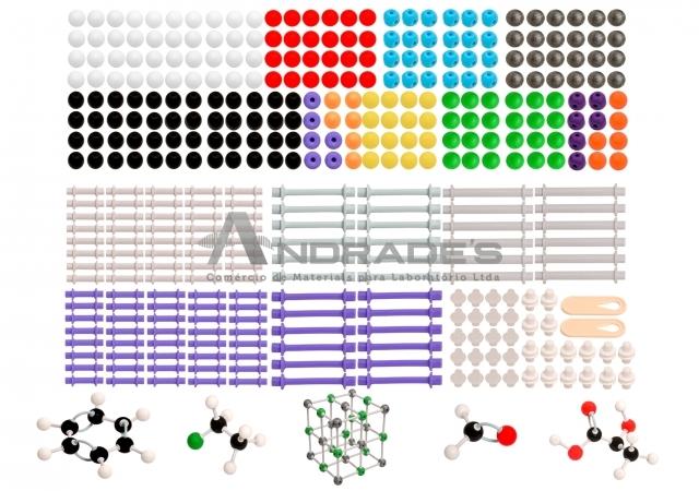 Modelo Molecular Avançado Orgânico e Inorgânico c/ 810 Peças - SD-6500