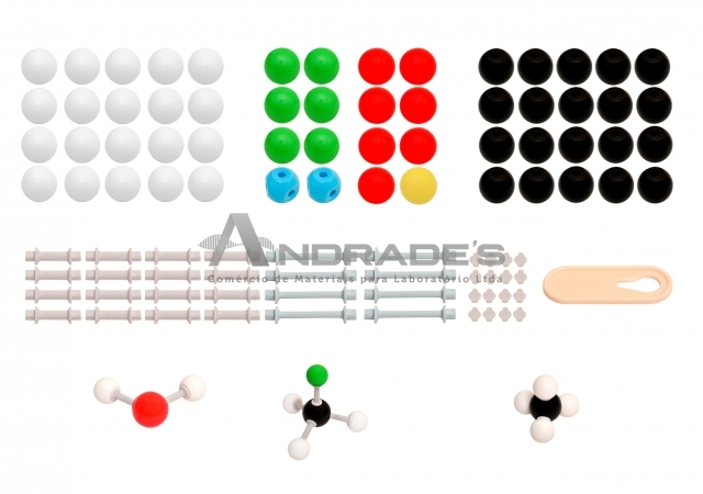 Modelo Molecular Introdutório c/ 122 Peças - SD-6200