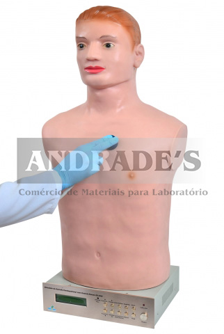Simulador de ausculta cardiopulmonar c/ controle remoto - SD-4040