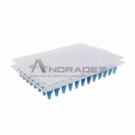 BORRACHA SELADORA PARA MICROPLACAS DE PCR 96 POÇOS