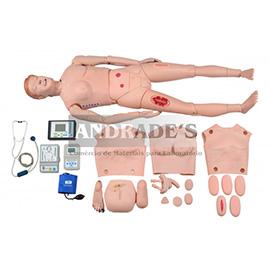 Manequim bissexual adulto avançado para habilidades em enfermagem - SD-4000/A