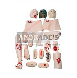 Manequim bissexual adulto de enfermagem c/ trauma e feridas - SD-4000/1